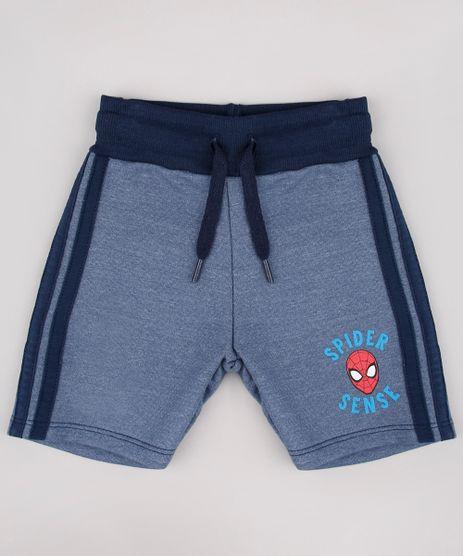 Bermuda-Infantil-Homem-Aranha-em-Moletom-com-Faixas-Laterais-Azul-9730345-Azul_1