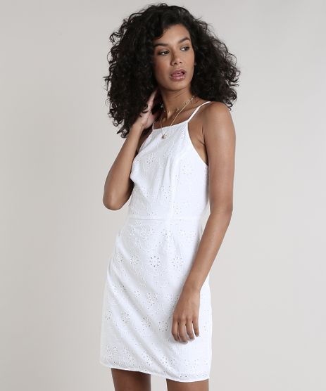 Vestido-Feminino-Curto-em-Laise-Alcas-Finas-Decote-Reto--Off-White-9627719-Off_White_1