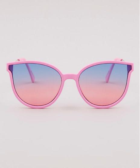 Oculos-de-Sol-Redondo-Infantil-Menina-Oneself--Rosa-9825810-Rosa_1