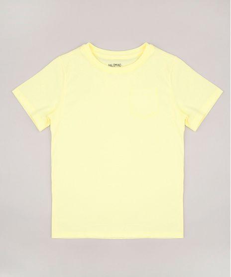 Camiseta-Infantil-Basica-com-Bolso-Manga-Curta-Amarela-9567186-Amarelo_1_1