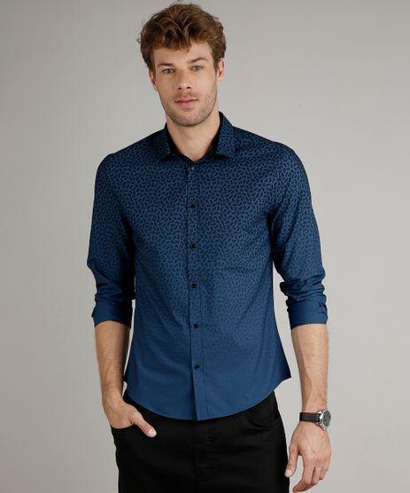 Camisa-Masculina-Slim-Fit-Estampada-Floral-com-Degrade-Manga-Longa-Azul-9516948-Azul_1