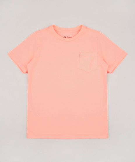 Camiseta-Infantil-Basica-com-Bolso-Manga-Curta-Laranja-Neon-9567186-Laranja_Neon_1
