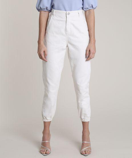 Calca-de-Sarja-Feminina-Jogger-com-Bolsos-Off-White-9838414-Off_White_1