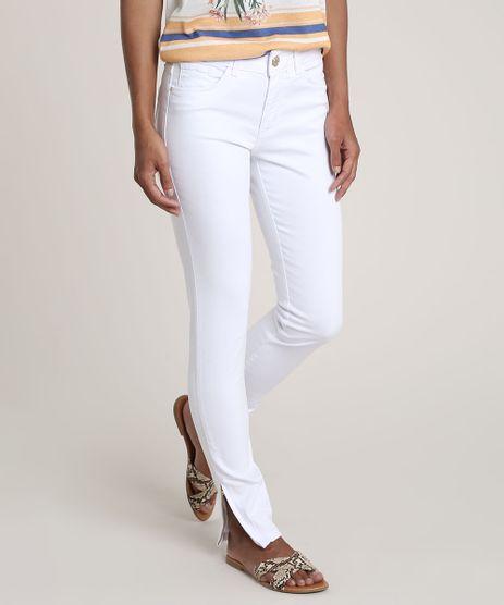Calca-de-Sarja-Feminina-Super-Skinny-com-Ziper-na-Barra-Branca-9774333-Branco_1