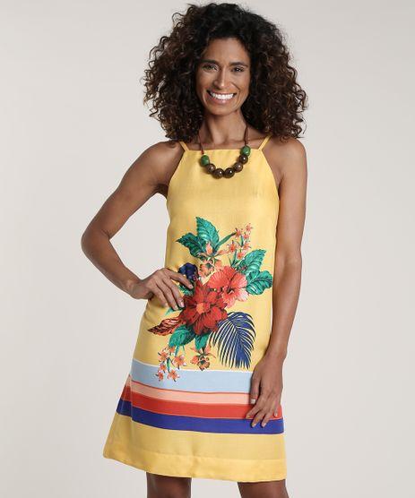 Vestido-Feminino-Estampado-Floral-Decote-Reto-Amarelo-9653560-Amarelo_1