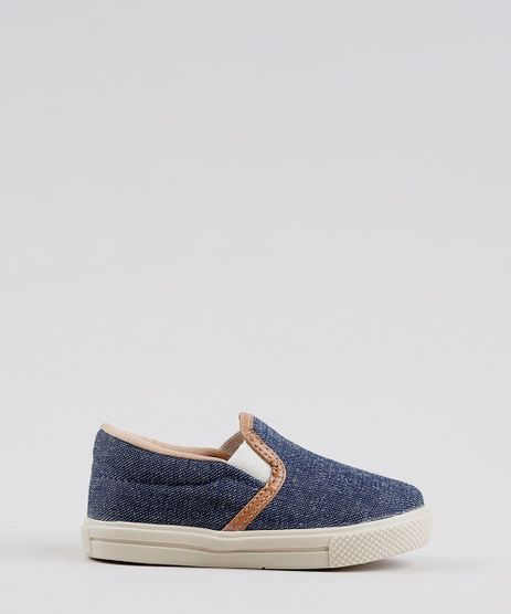 Tenis-Jeans-Infantil-Slip-On-Azul-Medio-9785685-Azul_Medio_1