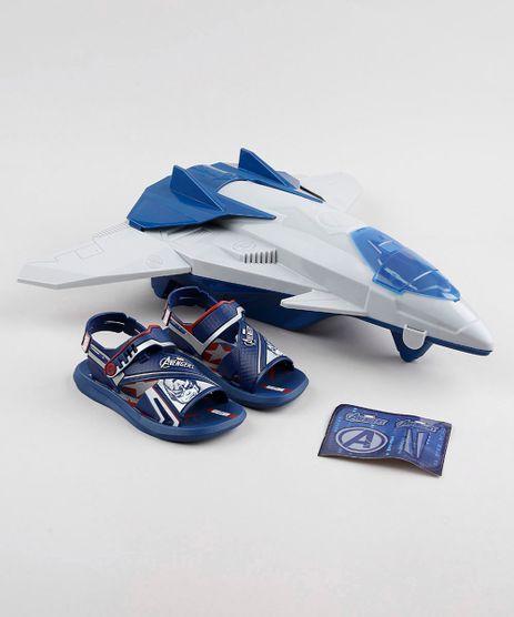 Papete-Infantil-Grendene-Vingadores-com-Aviao-Azul-Marinho-9795237-Azul_Marinho_1
