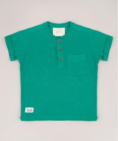 Camiseta-Infantil-com-Bolso-Manga-Curta-Gola-Portuguesa-Verde-9607876-Verde_1