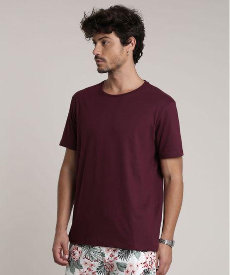 Camiseta-Masculina-Basica-Manga-Curta-Gola-Careca-Vinho-9451464-Vinho_1