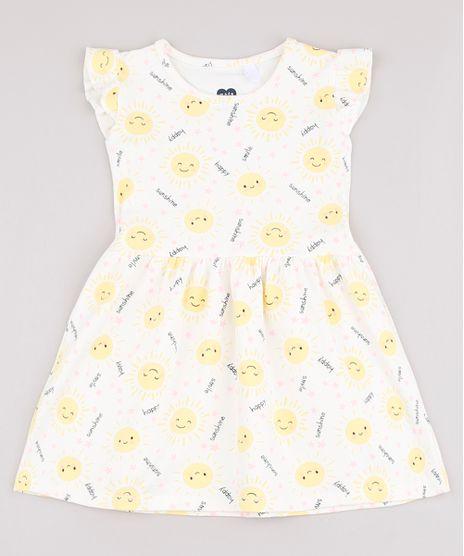 Vestido-Infantil-Estampado-de-Sol-com-Babado-Sem-Manga-Off-White-9742272-Off_White_1