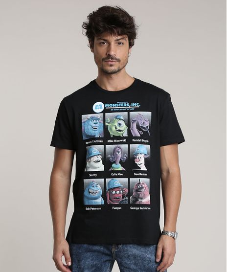 Camiseta-Masculina-Monstros-S-A--Manga-Curta-Gola-Careca-Preta-9780408-Preto_1