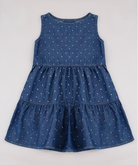 Vestido-Jeans-Infantil-Estampado-de-Estrelas-Sem-Manga-Azul-Escuro-9749453-Azul_Escuro_1
