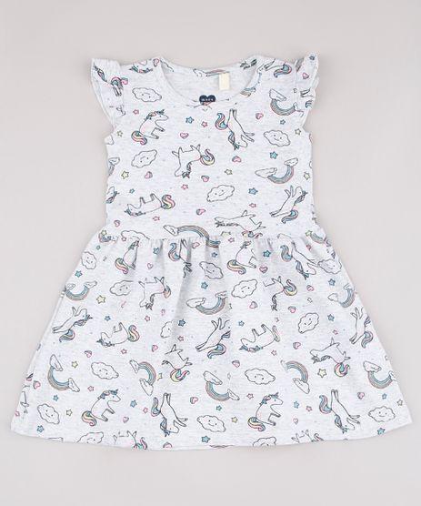 Vestido-Infantil-Estampado-de-Unicornios-com-Babado-Sem-Manga-Cinza-Mescla-Claro-9742273-Cinza_Mescla_Claro_1