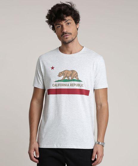 Camiseta-Masculina--California-Republic--Manga-Curta-Gola-Careca-Cinza-Mescla-Claro-9765169-Cinza_Mescla_Claro_1