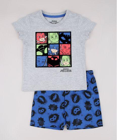 Pijama-Infantil-Pj-Masks-Manga-Curta-Cinza-Mescla-9751951-Cinza_Mescla_1