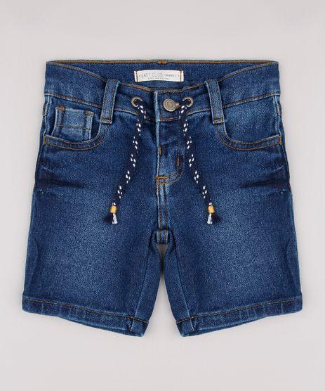 Bermuda-Jeans-Infantil-em-Moletom-com-Cordao-Azul-Escuro-9760453-Azul_Escuro_1