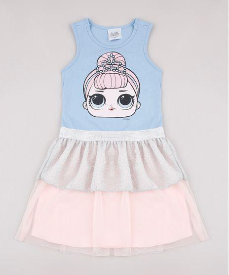 Vestido-Infantil-LOL-Surprise-com-Lurex-e-Tule-Sem-Manga-Azul-Claro-9738184-Azul_Claro_1