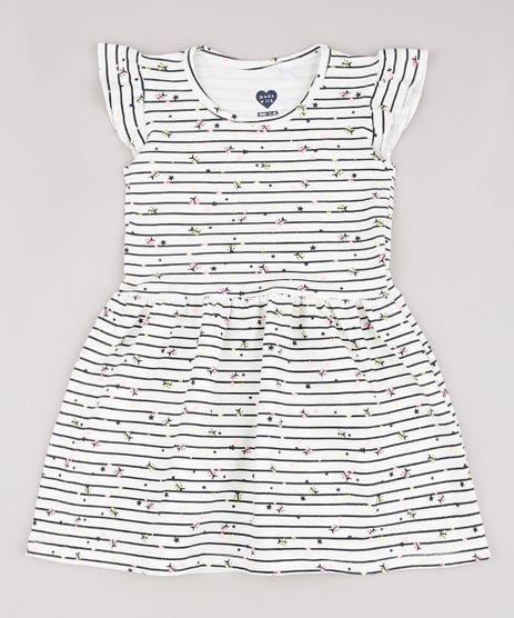 Vestido-Infantil-Listrado-com-Joaninhas-e-Babado-Sem-Manga-Off-White-9742251-Off_White_1