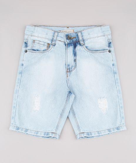 Bermuda-Jeans-Infantil-com-Rasgos-Azul-Claro-9761843-Azul_Claro_1