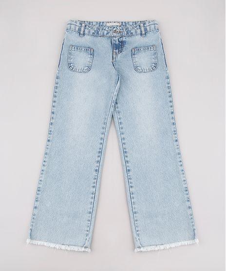 Calca-Jeans-Infantil-com-Bolsos-Barra-Desfiada-Azul-Claro-9756709-Azul_Claro_1