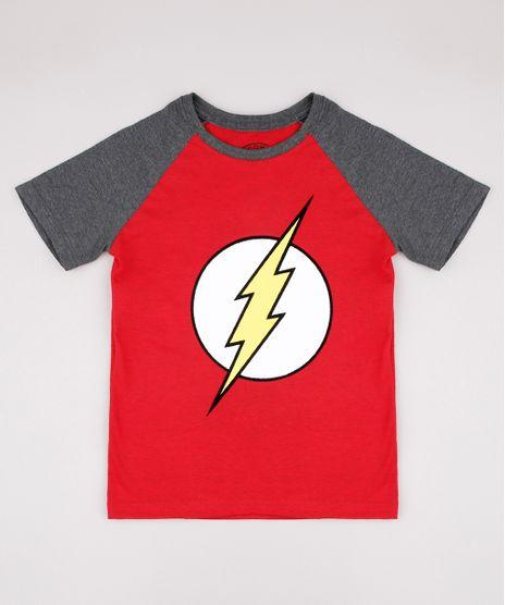 Camiseta-Infantil-Raglan-The-Flash-Manga-Curta-Vermelha-9730709-Vermelho_1
