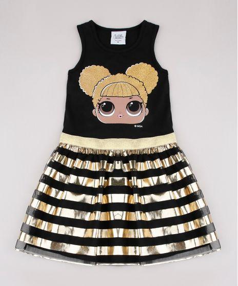 Vestido-Infantil-LOL-Surprise-com-Brilho-e-Tule-Sem-Manga-Preto-9675168-Preto_1