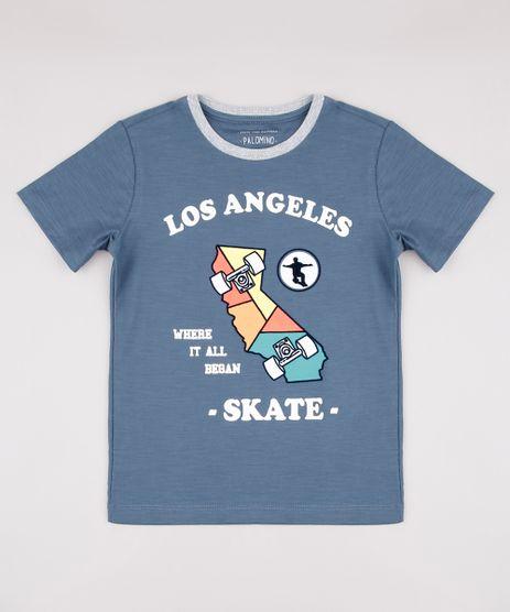 Camiseta-Infantil--Los-Angeles--Manga-Curta-Azul-9734840-Azul_1