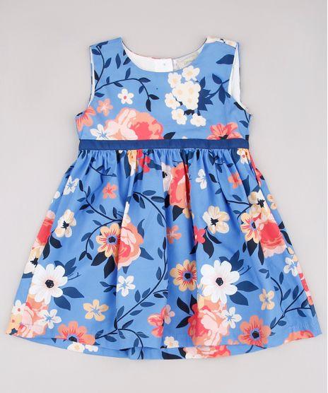 Vestido-Infantil-Estampado-Floral-Sem-Manga-Azul-9566303-Azul_1