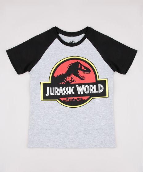 Camiseta-Infantil-Raglan-Jurassic-World-Manga-Curta-Cinza-Mescla-9730712-Cinza_Mescla_1
