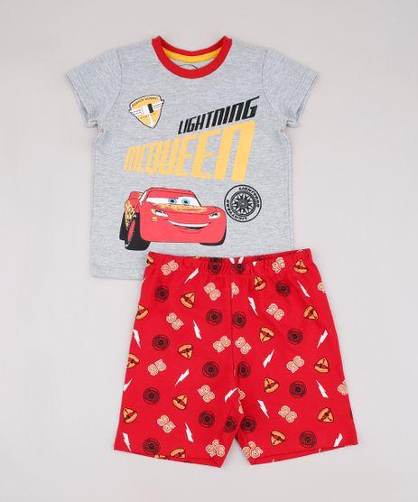 Pijama-Infantil-Relampago-McQueen-Manga-Curta-Cinza-Mescla-9632353-Cinza_Mescla_1