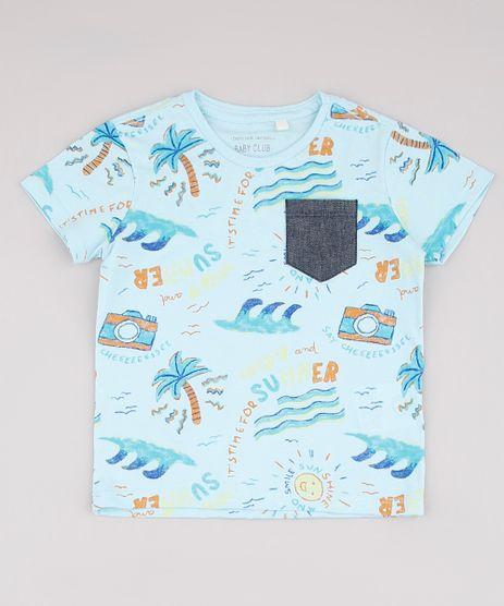 Camiseta-Infantil-Estampada-Tropical-com-Bolso-Manga-Curta-Azul-Claro-9733621-Azul_Claro_1