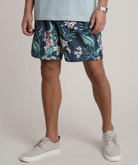 Short-Masculino-Estampado-Floral-com-Bolsos-Azul-Marinho-9513685-Azul_Marinho_1
