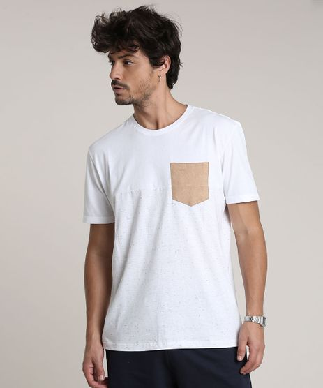 Camiseta-Masculina-com-Recorte-e-Bolso-Manga-Curta-Gola-Careca-Off-White-9647501-Off_White_1