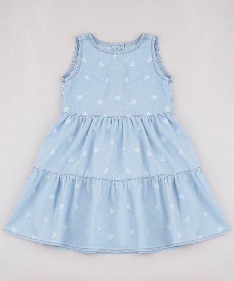 Vestido-Jeans-Infantil-Estampado-Floral-Sem-Manga-Azul-Claro-9749454-Azul_Claro_1