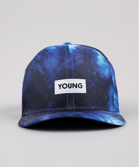 Bone-Masculino-Aba-Curva-Tie-Dye-com-Bordado--Young--Azul-9769581-Azul_1