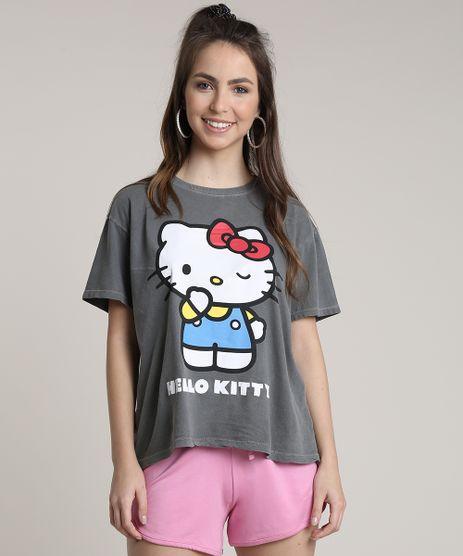Blusa-Feminina-Hello-Kitty-Ampla-Manga-Curta-Decote-Redondo-Chumbo-9716468-Chumbo_1