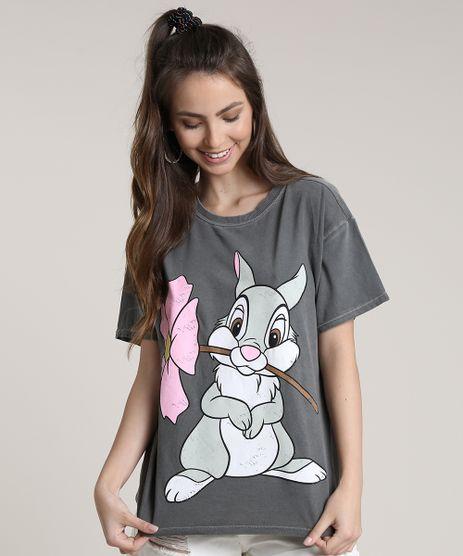 Blusa-Feminina-Tambor-Bambi-Ampla-Manga-Curta-Decote-Redondo-Chumbo-9716465-Chumbo_1