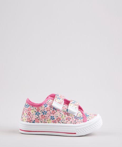 Tenis-Infantil-Baby-Club-Estampado-Floral-com-Velcro-Rosa-Claro-9678657-Rosa_Claro_1
