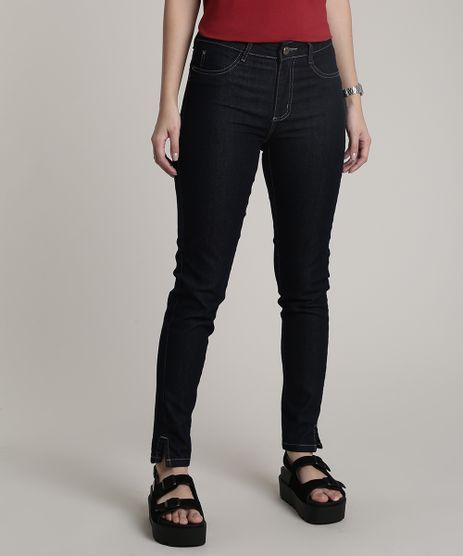 Calca-Jeans-Feminina-Sawary-Cigarrete-Push-Up-Azul-Escuro-9807193-Azul_Escuro_1