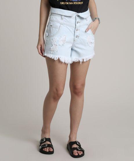 Short-Jeans-Feminino-Cintura-Super-Alta-Destroyed-com-Cos-Virado-Azul-Claro-9751063-Azul_Claro_1