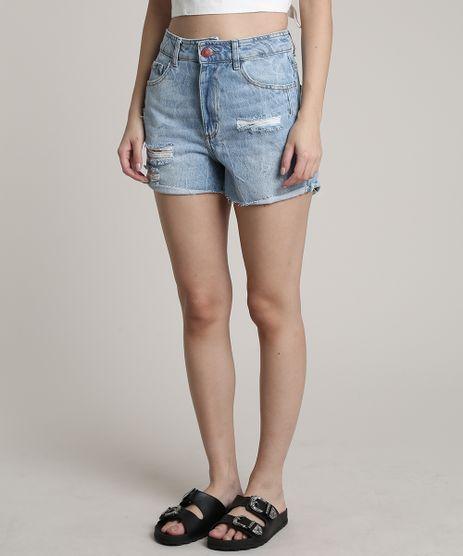Short-Jeans-Feminino-Cintura-Super-Alta-Destroyed-Azul-Claro-9751068-Azul_Claro_1