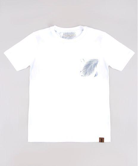 Camiseta-Infantil-com-Bolso-Estampado-de-Folhagem-Manga-Curta-Off-White-9758983-Off_White_1