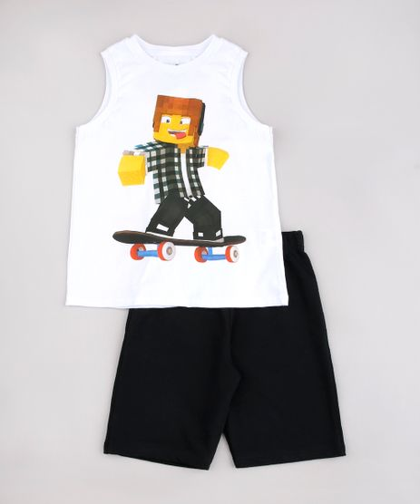 Conjunto-Infantil-de-Regata-Authentic-Games---Short-em-Moletom-Preto-9736693-Preto_1