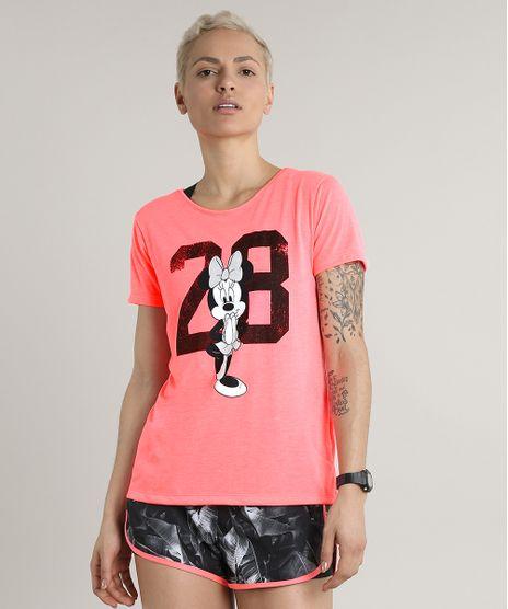 Blusa-Feminina-Esportiva-Ace-Minnie-Manga-Curta-Decote-Redondo-Rosa-Neon-9713213-Rosa_Neon_1