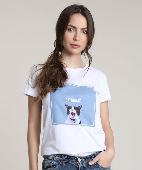Blusa-Feminina-Gato--Caturday--Manga-Curta-Decote-Redondo-Branca-9712517-Branco_1