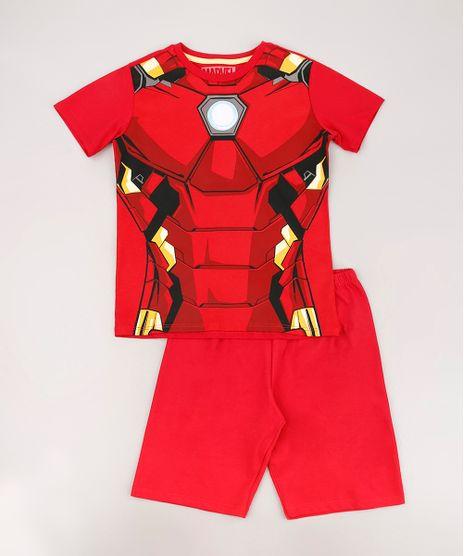 Pijama-Infantil-Homem-de-Ferro-Manga-Curta-Vermelho-9633470-Vermelho_1