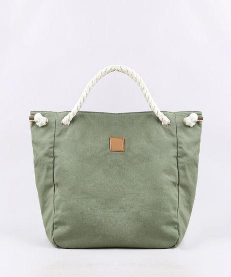 Bolsa-Feminina-Shopper-com-Alcas-de-Cordas-Verde-Militar-9602424-Verde_Militar_1