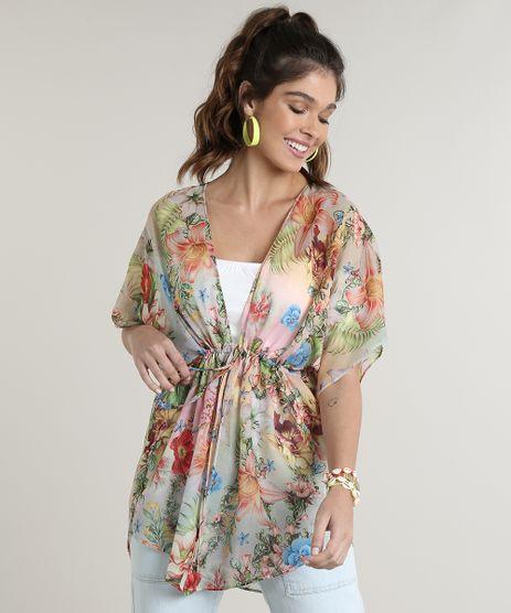 Kimono-Feminino-Estampado-Floral-com-Amarracao-Verde-Claro-9716342-Verde_Claro_1