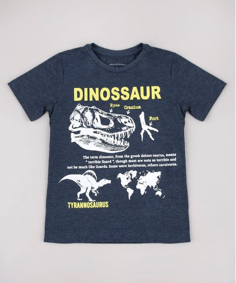 Camiseta-Infantil-Dinossauro-Manga-Curta-Cinza-Mescla-Escuro-9736750-Cinza_Mescla_Escuro_1