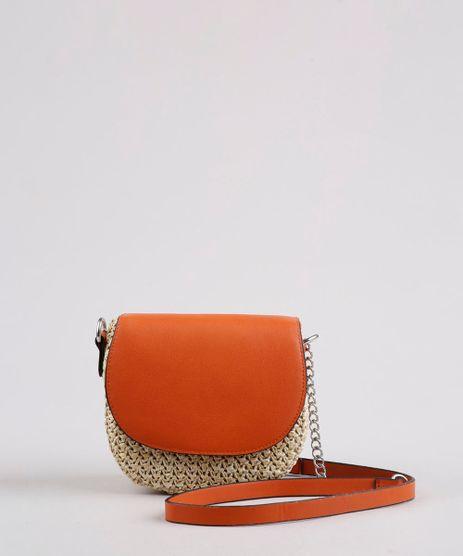Bolsa-Feminina-Transversal-Pequena-com-Palha-e-Alca-Corrente-Cobre-9632514-Cobre_1